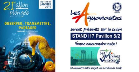 Les Aquanautes au 21ème salon de la plongée à Paris