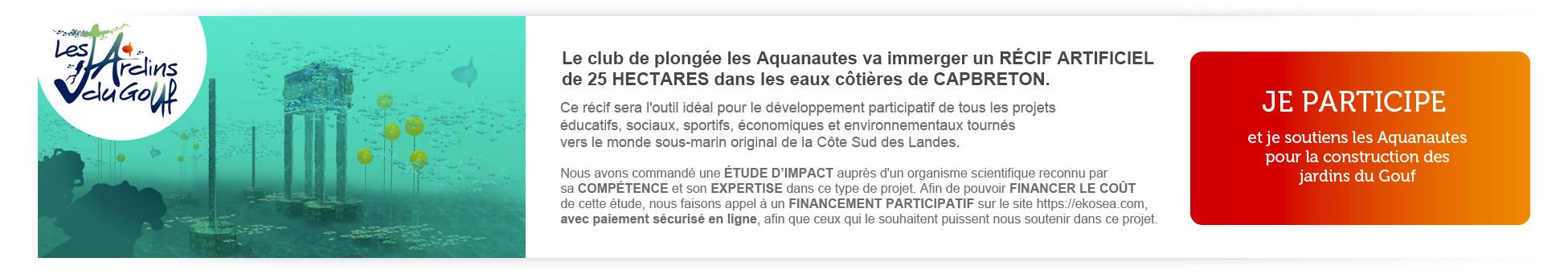 Soutenir les Aquanautes pour les Jardins du Gouf - financement participatif sur ekosea.com