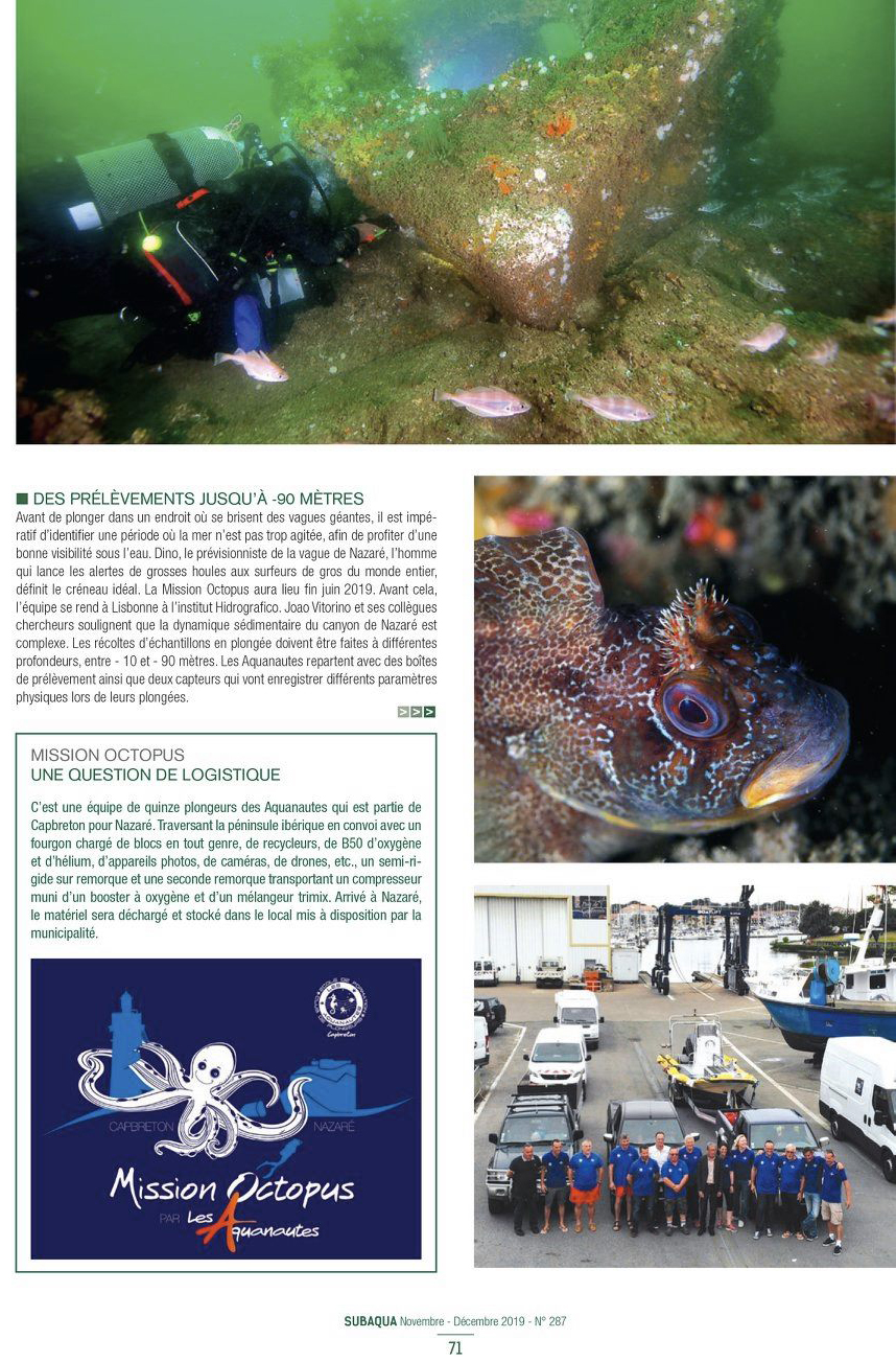 Article Subaqua Mission Octopus