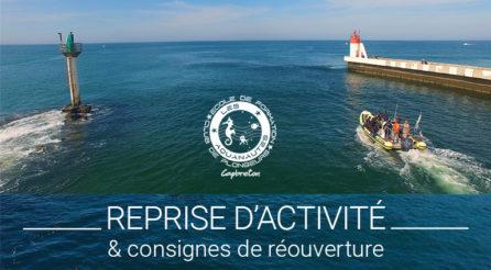 Reprise d'activité, déconfinement, Aquanautes